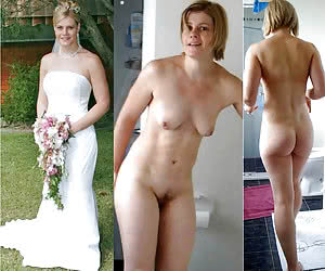 Amateur bride before and after