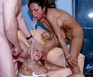 A collage of extraordinary cumshots 10