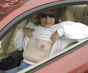 Nude In Car